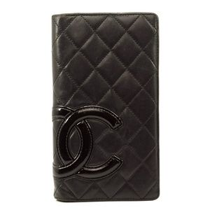 Auth Chanel Long Wallet Cambon Vintage #1223C10
